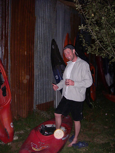 First night at camp - after some wine, Patrick decides to go to the boats to find HIS boat...