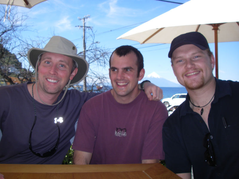 First bar - the boys (Patrick, Jeff, and Jack from left to right) are happy to be in Chile!