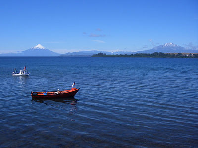 Lake Llanquihue with el volcan Osorno in the background