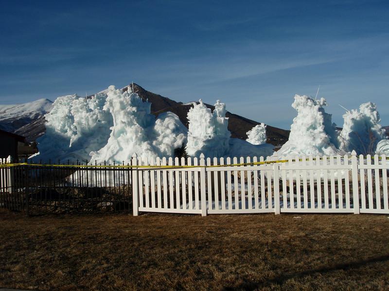 Ice sculptures in Midway, UT.