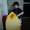 Max liked skimming so much he got a new skim board......all waxed up and ready to go to Cowell's beach
