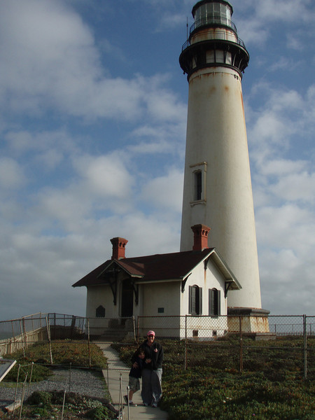 Max and Mama at Pigeon Point Lighthouse