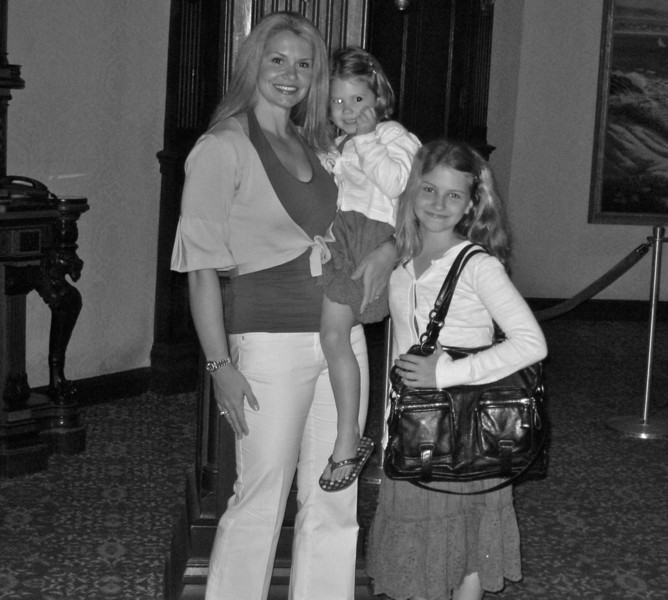 Mommy & Girls. March 2010