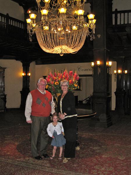 Grampy, Vivian (3), Grammy in lobby of Hotel Del Coronado.