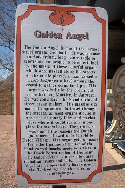 "Nelis' Dutch Village<br /> Golden Angel Street Organ history. I have vague memories of having been here as a young child with my Grandma and Grandpa Golofit.<br /> <br />  <a href=""http://www.dutchvillage.com/"">http://www.dutchvillage.com/</a><br />  <a href=""http://bit.ly/ilgpU5"">http://bit.ly/ilgpU5</a>"