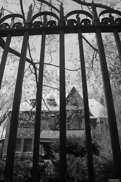 """Heritage Hill Historic District<br /> Grand Rapids, MI<br /> <br /> This didn't turn out as good as I hoped, but I like wrought iron fencing and liked anyway. Couldn't decide if I liked it better in color or black & white so posted both.<br /> <br /> Some of the beautiful homes in the historic district.<br />  <a href=""""http://www.heritagehillweb.org/"""">http://www.heritagehillweb.org/</a><br /> 126 College Ave. SE Grand Rapids , MI 49503<br /> <br /> New Walking Tour Brochure<br />  <a href=""""http://www.heritagehillweb.org/pdf/WalkingTour0908.pdf"""">http://www.heritagehillweb.org/pdf/WalkingTour0908.pdf</a>"""