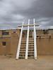 Acoma Pueblo - Ladders to a kiva.