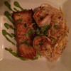 Salmon with rice noodles and shrimp!  The special that night.