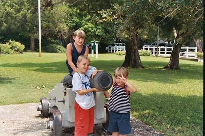 The boys at Fort Fredricka.