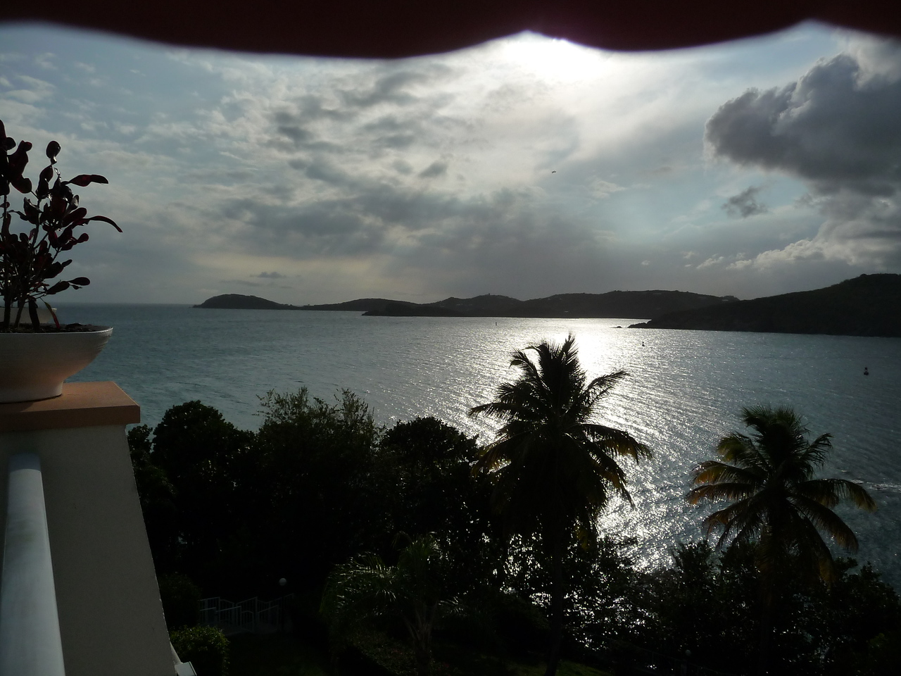 View from Rumbar outdoor patio at the Frenchmans Reef--looking to the left.
