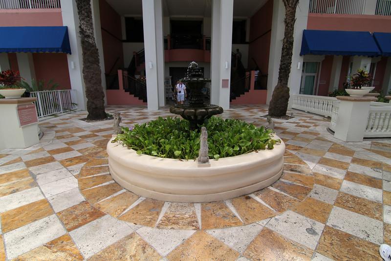 Fountain above pool area
