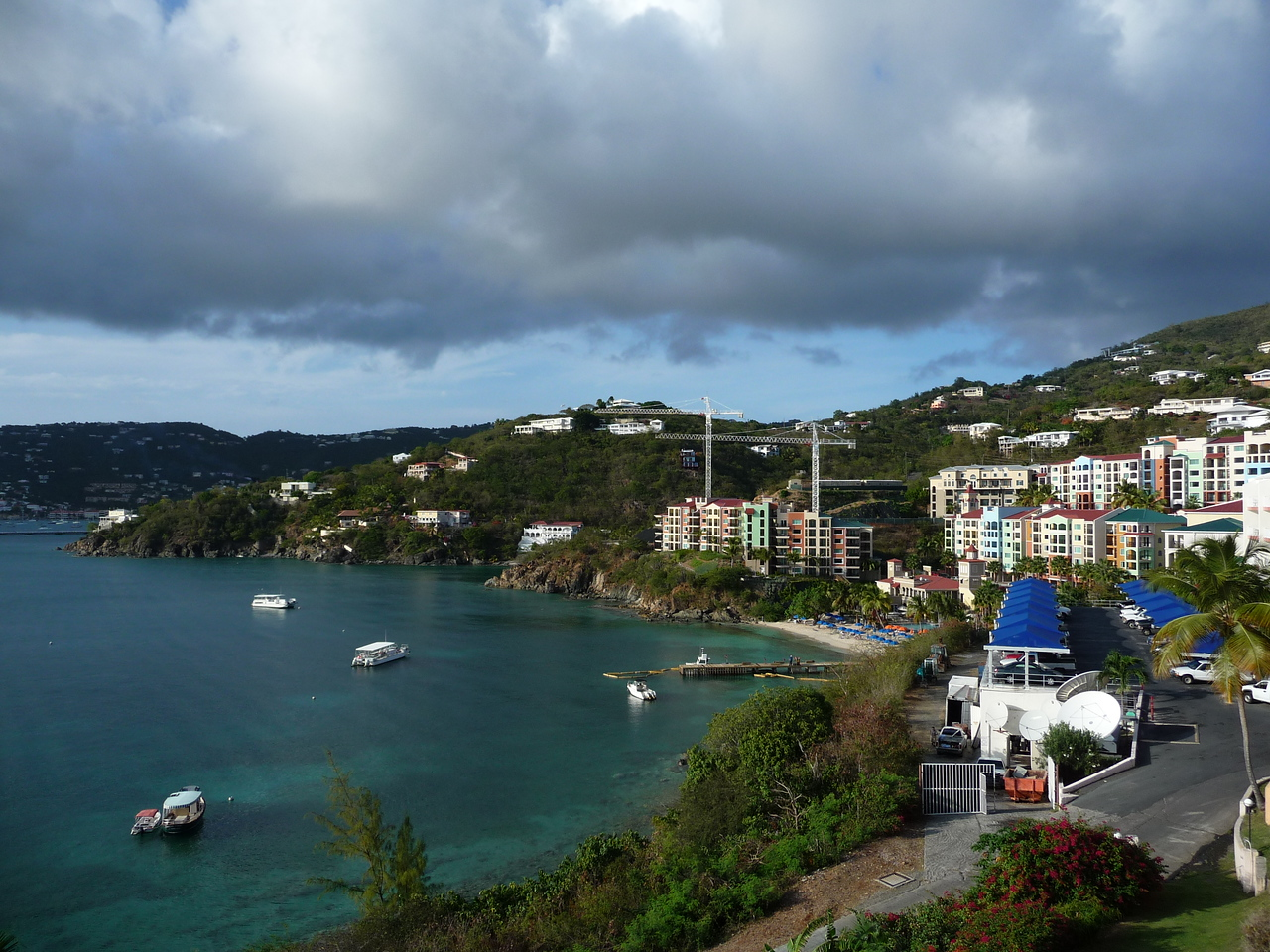 View from Rumbar outdoor patio at the Frenchmans Reef--looking to the right.