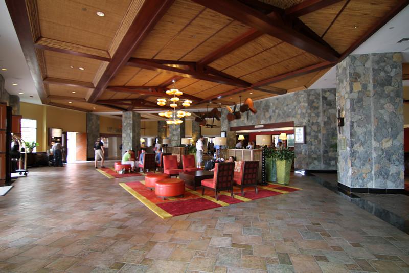 Diagonal view of lobby.