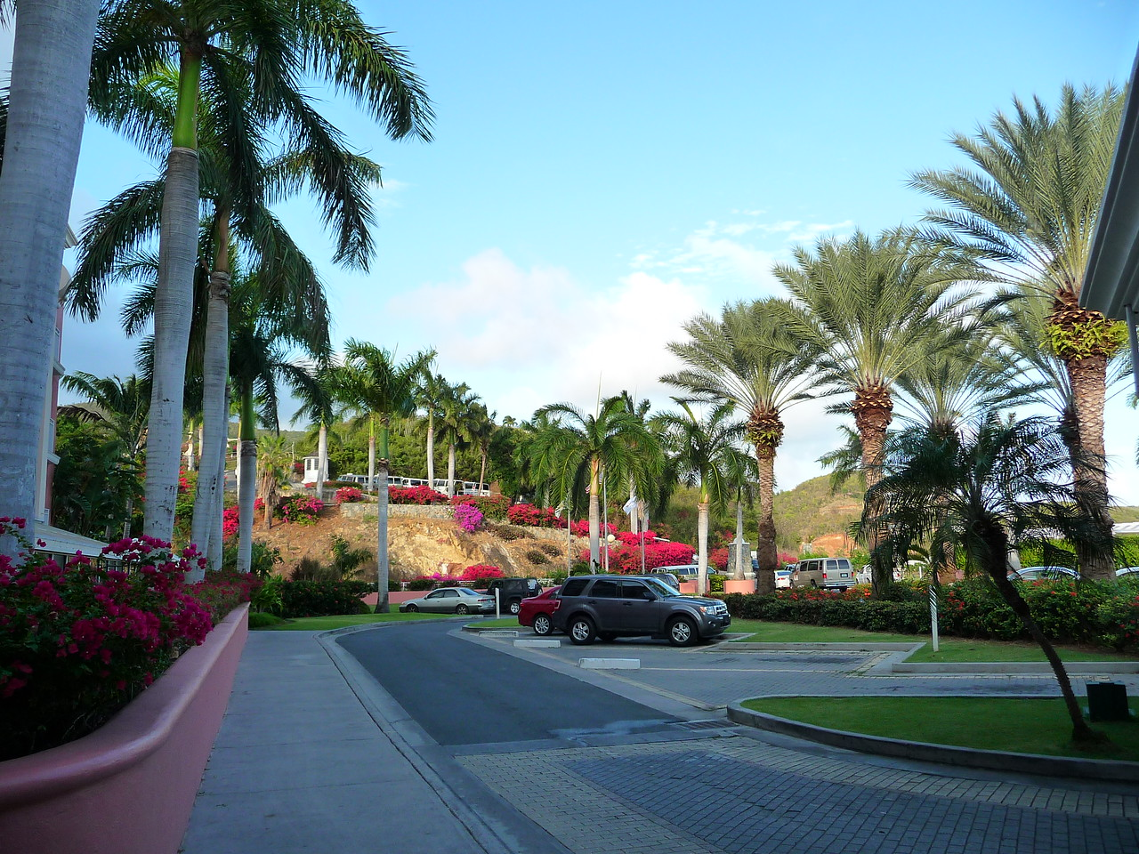 View from the front lobby of the Frenchman's Reef Resort.