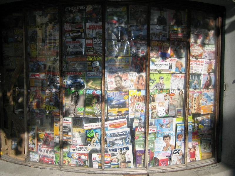 News stand in Stia