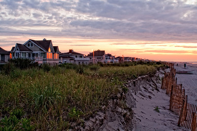 Stone Harbor at dawn, looking north fro, 109th Street