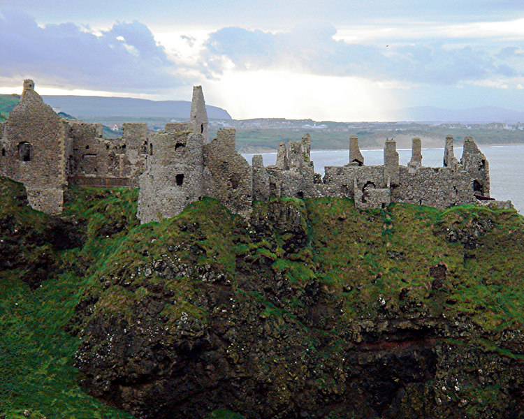 Dunluce Castle where the kitchen fell into the sea