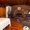 Harry's Cabin–Our room, complete with real fireplace