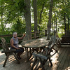 Harry's Cabin–Our nice deck