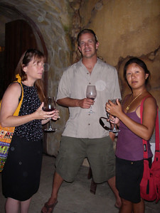 Diana, Frank and Grace in the cellar