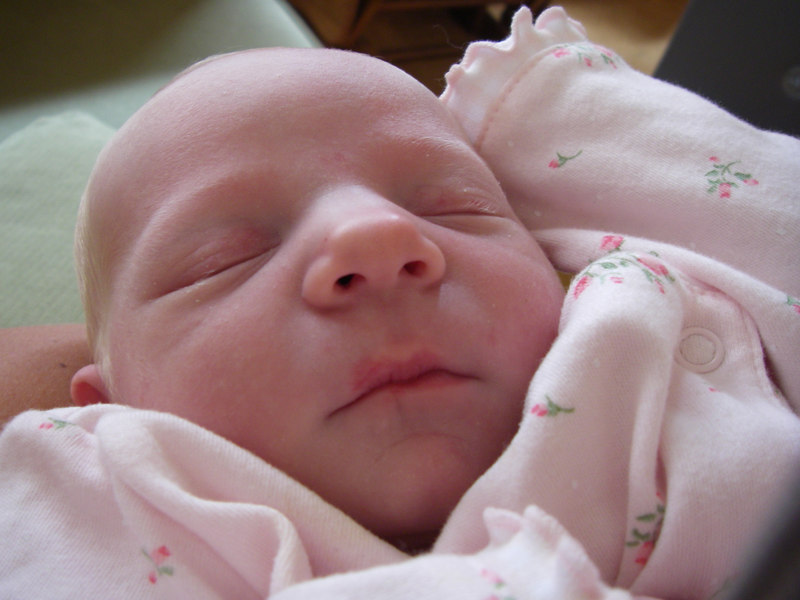 Ginny, up-close.  She was always sleeping and hardly ever cried - a dream baby!