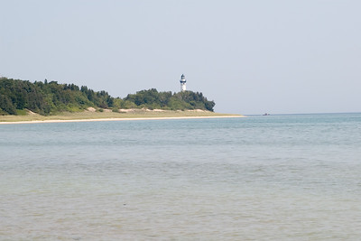 Approaching South Manitou Island (in Lake Michigan.)