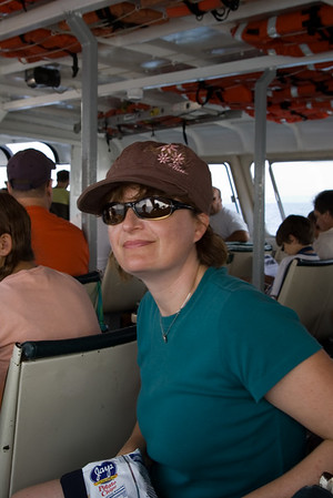 On the boat to South Manitou Island (in Lake Michigan.)