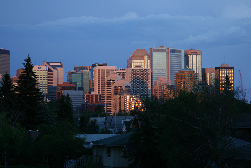 Downtown Calgary view from my condo.