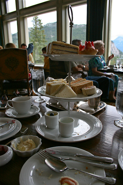 Tea for two at the Banff Springs