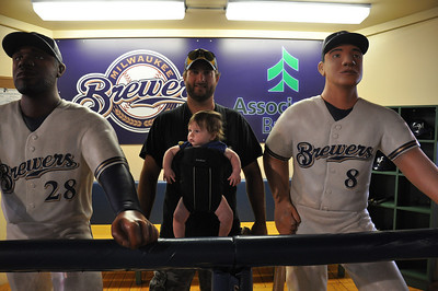 Callen's 1st Brewers Game.