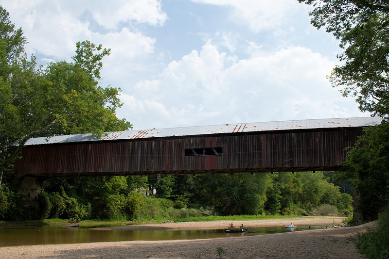 "Cox Ford Covered Bridge<br /> Parke County, Indiana<br /> <br /> This bridge is located on the west edge of Turkey Run State Park and crosses Sugar Creek.<br /> <br />  <a href=""http://www.countyhistory.com/coveredbridge/parke/coxford.htm"">http://www.countyhistory.com/coveredbridge/parke/coxford.htm</a>"