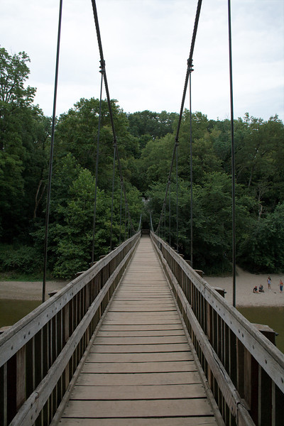 """Turkey Run Suspension Bridge<br /> Turkey Run State Park<br /> <br /> This a view from the north side of the suspension bridge at Turkey Run State Park.<br /> <br /> Park Trails Map: <a href=""""http://www.in.gov/dnr/parklake/files/turkey_run_trail.pdf"""">http://www.in.gov/dnr/parklake/files/turkey_run_trail.pdf</a><br /> Official Park Site: <a href=""""http://www.in.gov/dnr/parklake/2964.htm"""">http://www.in.gov/dnr/parklake/2964.htm</a><br /> Google Map: <a href=""""http://goo.gl/maps/HAUB"""">http://goo.gl/maps/HAUB</a>"""