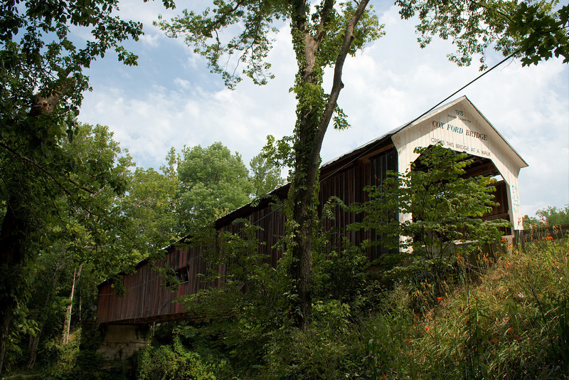 """Cox Ford Covered Bridge<br /> Parke County, Indiana<br /> <br /> This bridge is located on the west edge of Turkey Run State Park and crosses Sugar Creek.<br /> <br />  <a href=""""http://www.countyhistory.com/coveredbridge/parke/coxford.htm"""">http://www.countyhistory.com/coveredbridge/parke/coxford.htm</a>"""