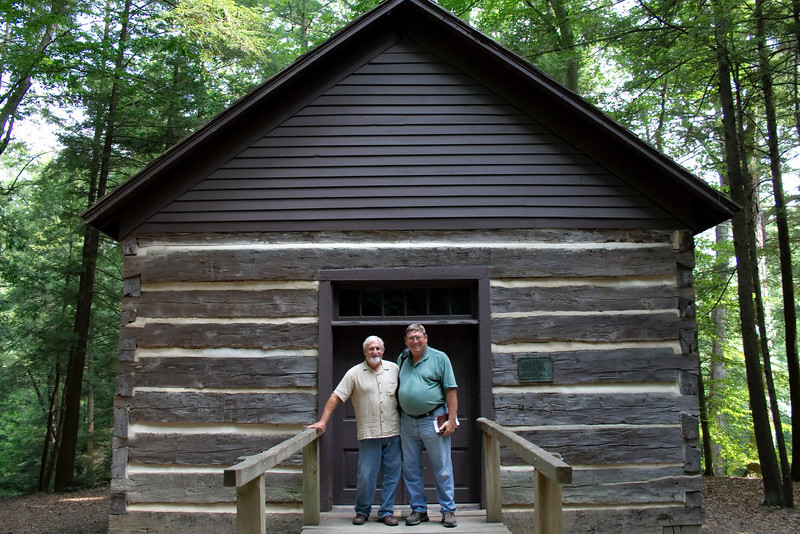 """The Old Log Church<br /> Built 1871<br /> Turkey Run State Park - Trail 11<br /> Near the Turkey Run State Park Inn<br /> <br /> We were able to attend a wonderful volunteer lead church service in the Old Log Church on Sunday. The song leader is on the left and the preacher on the right.<br /> <br /> Park Trails Map: <a href=""""http://www.in.gov/dnr/parklake/files/turkey_run_trail.pdf"""">http://www.in.gov/dnr/parklake/files/turkey_run_trail.pdf</a><br /> Official Park Site: <a href=""""http://www.in.gov/dnr/parklake/2964.htm"""">http://www.in.gov/dnr/parklake/2964.htm</a><br /> Google Map: <a href=""""http://goo.gl/maps/HAUB"""">http://goo.gl/maps/HAUB</a>"""