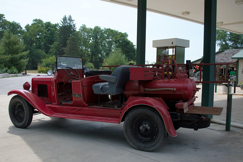 Old Red<br /> <br /> An old 1931 fire truck parked at a gas/boat station near the park. Wish I could've gotten a better shot of this antique.