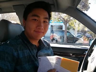 Brian finally got his drivers license!