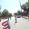 Benek and Kaitlin doing a little racing at the 4th of July bike parade.