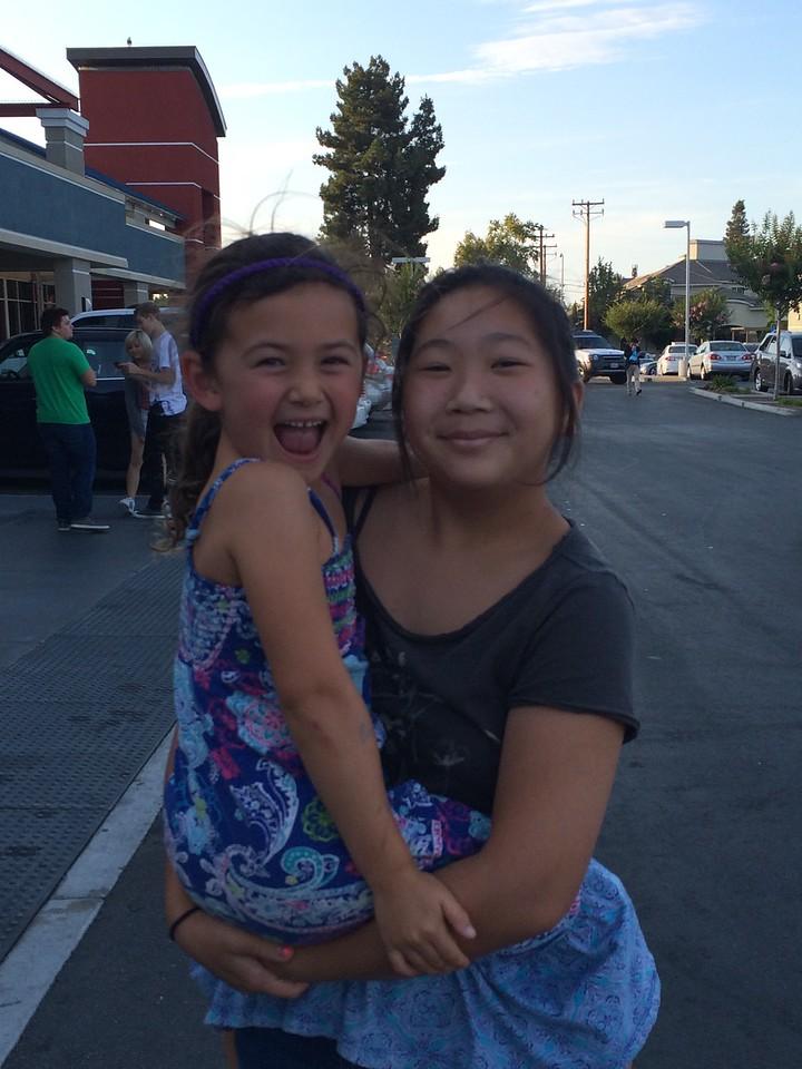 """Kaitlin with her """"Big Sister"""", Lauren"""