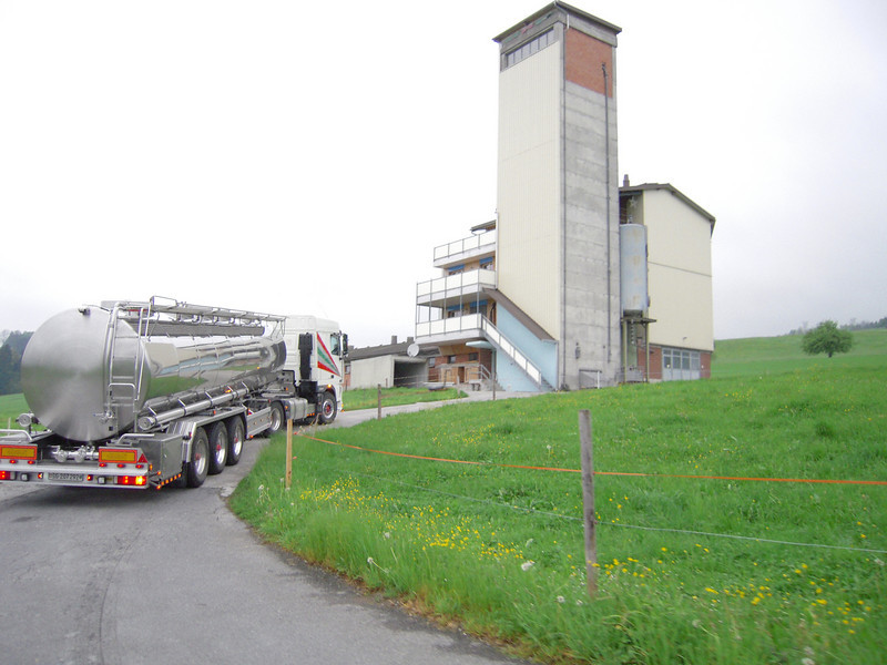 Milk Truck making stop to pick up Milk