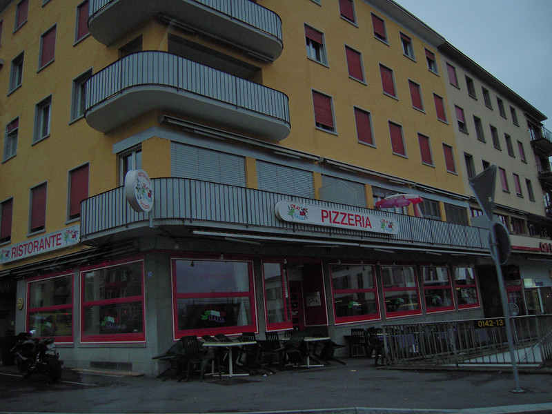 Where we had dinner the first night in Switzerland on Lake Zurich.  Two small pizza's and 3 drinks $65.00