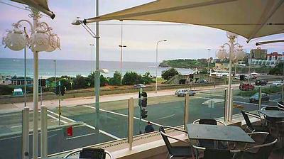 Cafe overlooking Bondi Beach