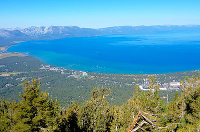 South Lake Tahoe from Heavenly gondola.
