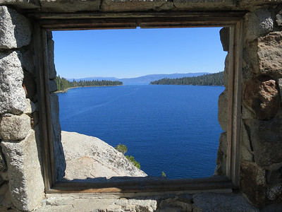 Looking toward the entrance to Emerald Bay from the Teahouse.