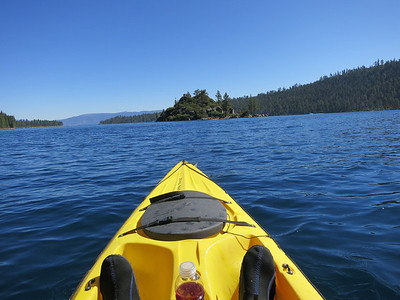 Rented a kayak in Emerald Bay and paddled over to the Teahouse on Fannette island.