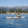 Timber paddling around on Lake Tahoe.