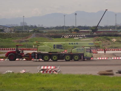 Crane at Taipei Airport