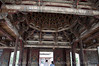Roof and door details on the 800 year old temple