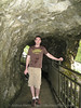 Me in the tunnel to the temple in Taroko Gorge.  Can you tell it's raining outside and water is dripping from the ceiling in here?