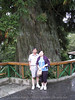 Connie's parents in front of the big tree