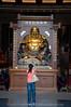 Buddha statue to greet you.